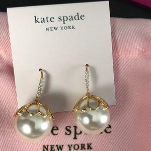 Kate spade Pearlette Drop earrings in gold